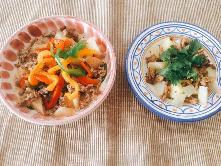 パプリカとパクチーポテトサラダ