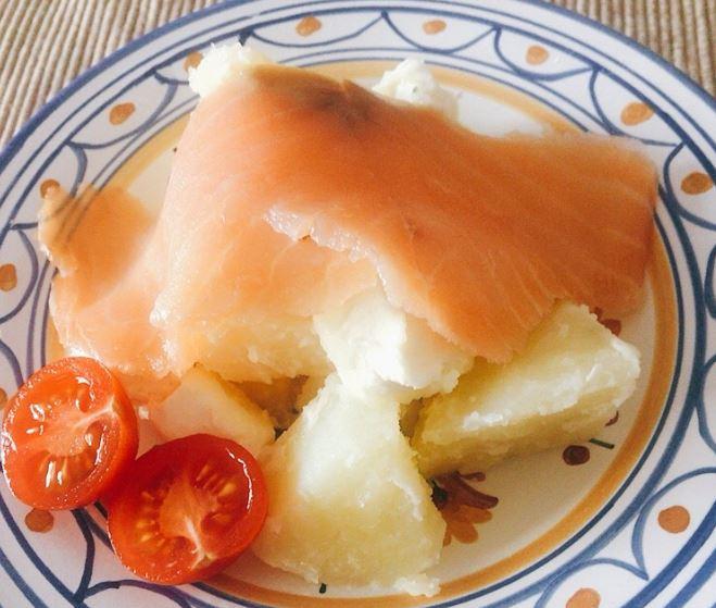 クリームチーズとスモークサーモンのポテトサラダ