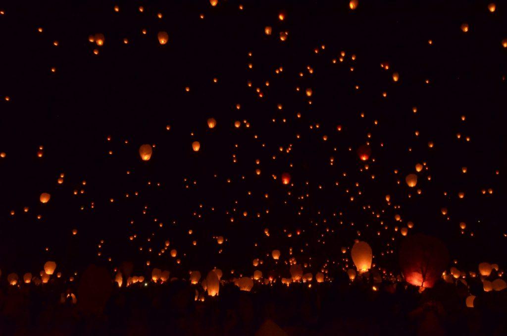 アルバカーキ気球フェスタ夜