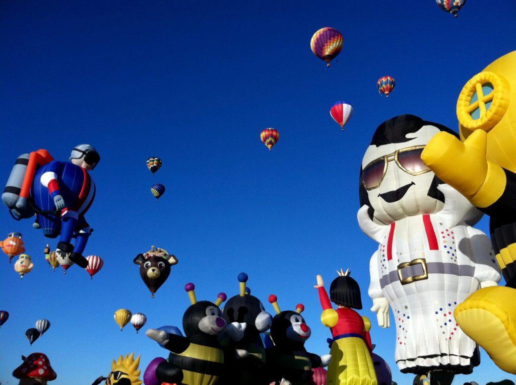 アルバカーキ気球フェスタスペシャルシェープロデオ