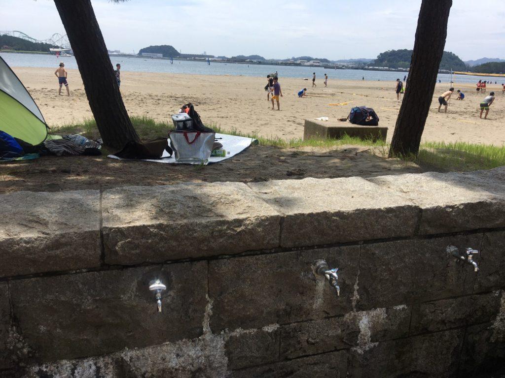 海の公園足洗い場
