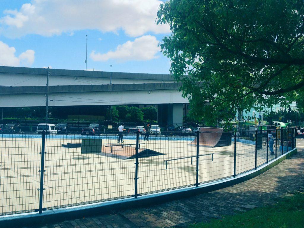 本牧市民公園のスケートパーク