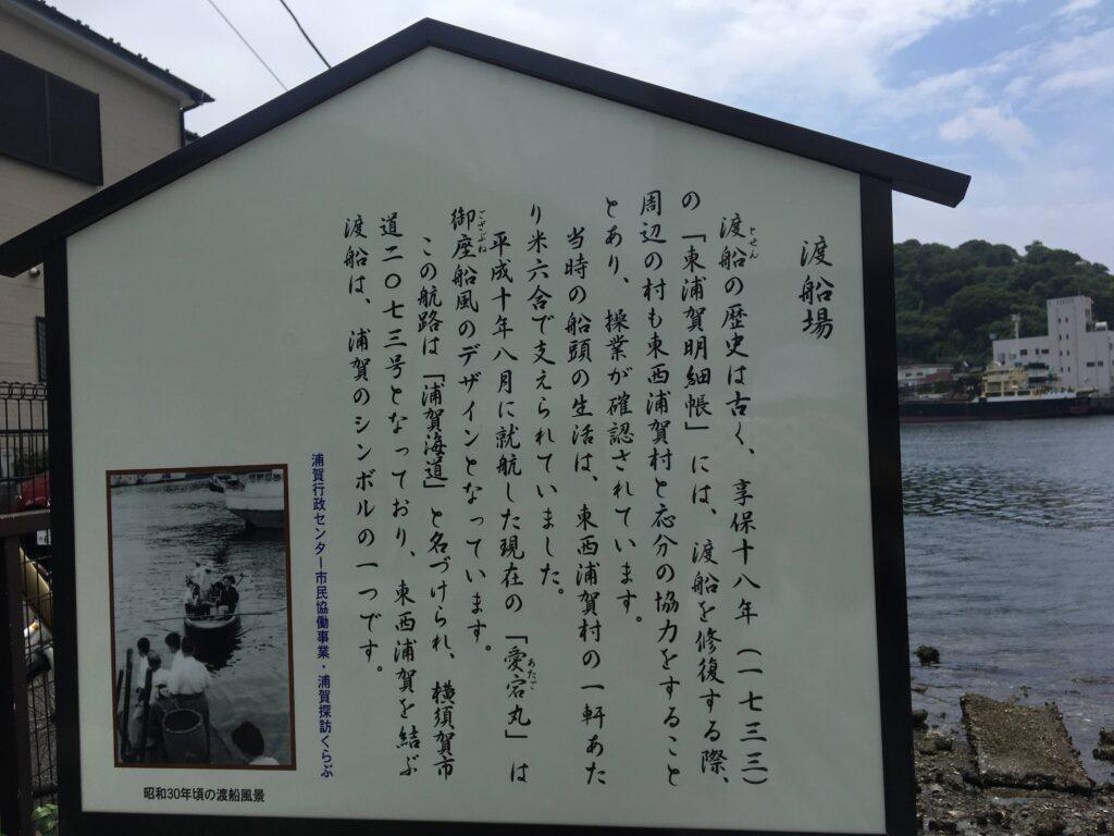 浦賀の渡し看板(東浦賀)