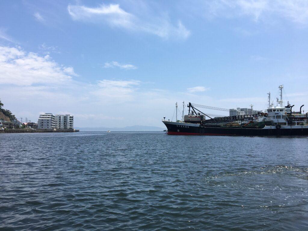 渡し船からの光景(浦賀の渡し)